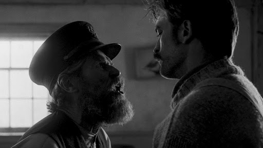 Williem Dafoe and Robert Pattinson in director Robert Eggers THE LIGHTHOUSE.
